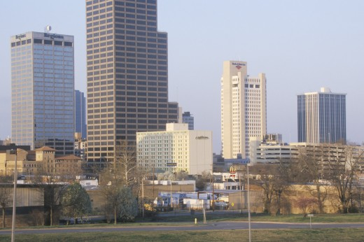 State capital and skyline in Little Rock, Arkansas : Stock Photo