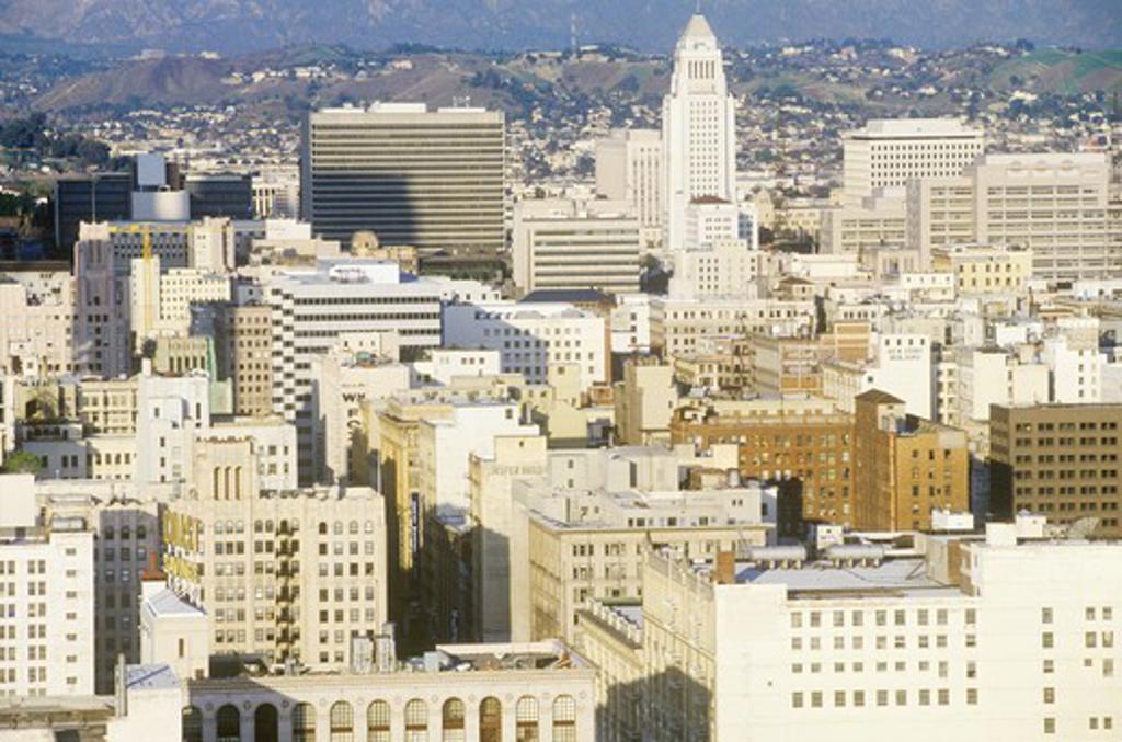 Old Los Angeles skyline, Los Angeles, California : Stock Photo