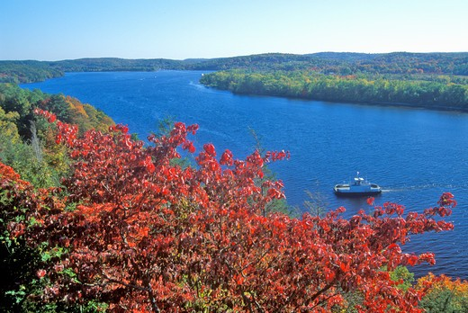 View of the Connecticut River form Gillette Castle, East Haddam, Connecticut : Stock Photo