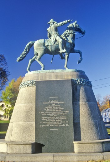 New England statue along scenic Route 169, Brooklyn, Connecticut : Stock Photo
