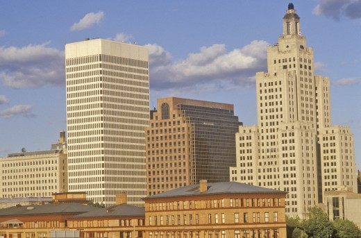 Stock Photo: 1599R-23883 Sunrise on the Hartford skyline, Hartford, Connecticut
