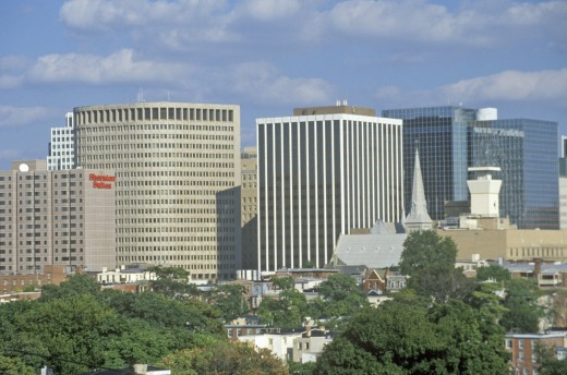 Wilmington skyline, Wilmington, Delaware : Stock Photo