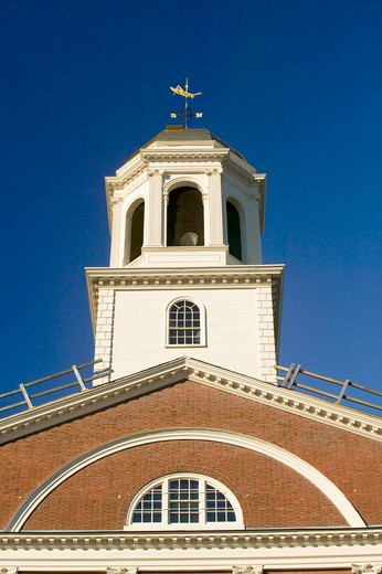 Historical Faneuil Hall from Revolutionary America in Boston, Massachusetts, New England : Stock Photo