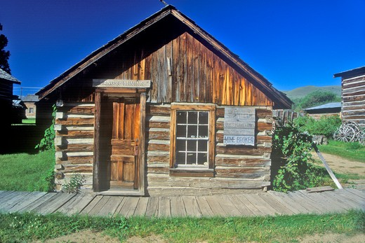 Stock Photo: 1599R-24959 Old building in Ghost Town near Virginia City, MT