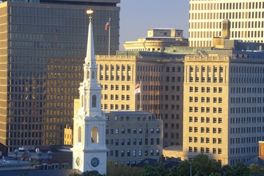 Stock Photo: 1599R-25566 Skyline of Providence, RI