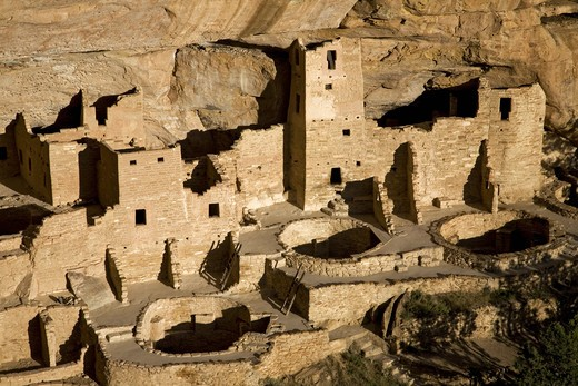 Cliff Palace cliff dwelling Indian ruin, the largest in North America, Mesa Verde National Park, Southwestern Colorado : Stock Photo