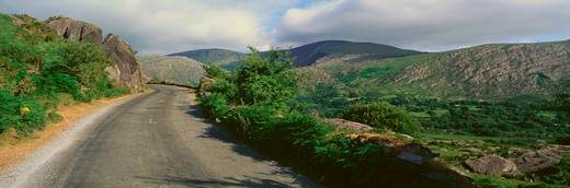 Stock Photo: 1599R-28603 Panoramic view of Healy Pass, Cork, Ireland