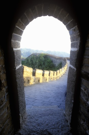 Stock Photo: 1599R-28806 The Great Wall at Mutianyu in Beijing in Hebei Province, People's Republic of China
