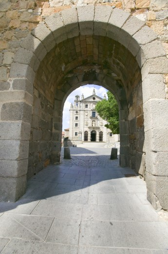 Early Gothic Cathedral in Avila Spain, an old Castilian Spanish village : Stock Photo