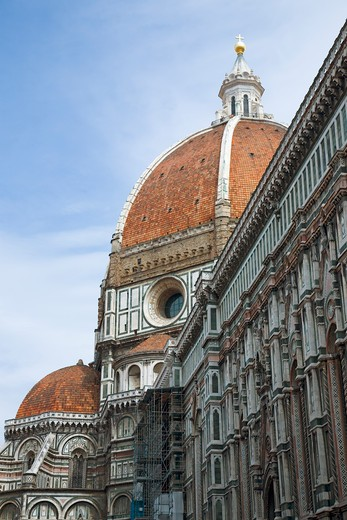 Exterior view Cathedral of Santa Maria del Fiore, The Duomo, Florence, Italy, Europe : Stock Photo