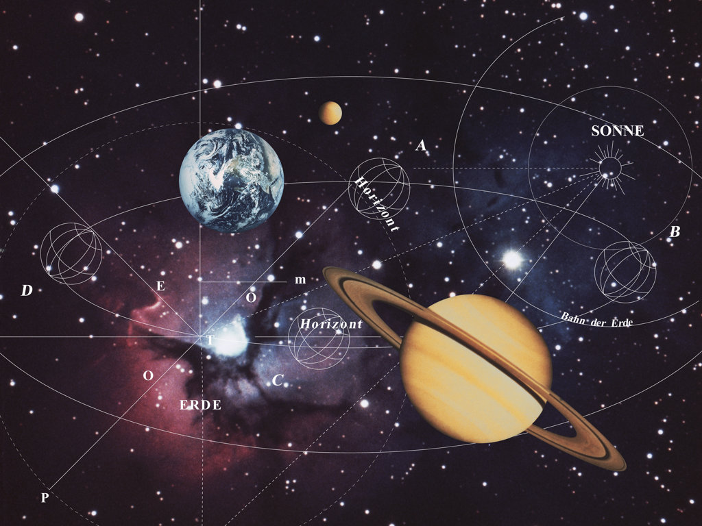 Stock Photo: 160-1935 Map of Solar System, digitally generated image