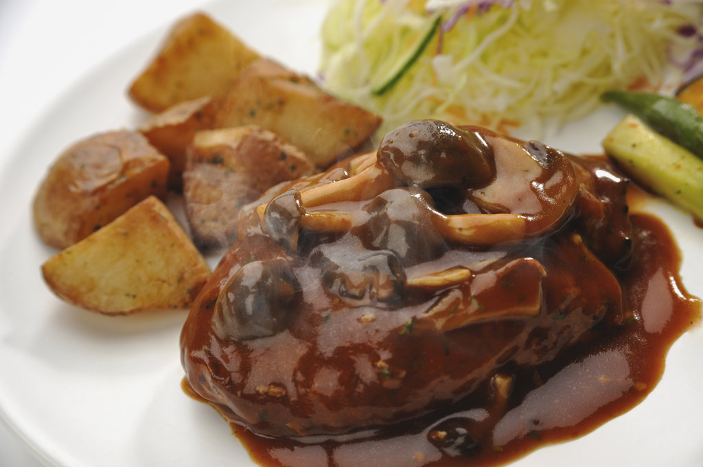 Demiglace sauce hamburger : Stock Photo