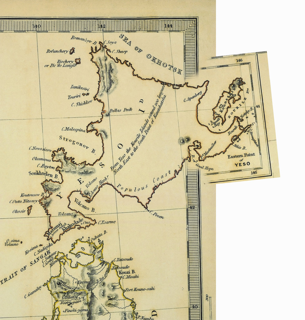 Stock Photo: 160-2639 antique map