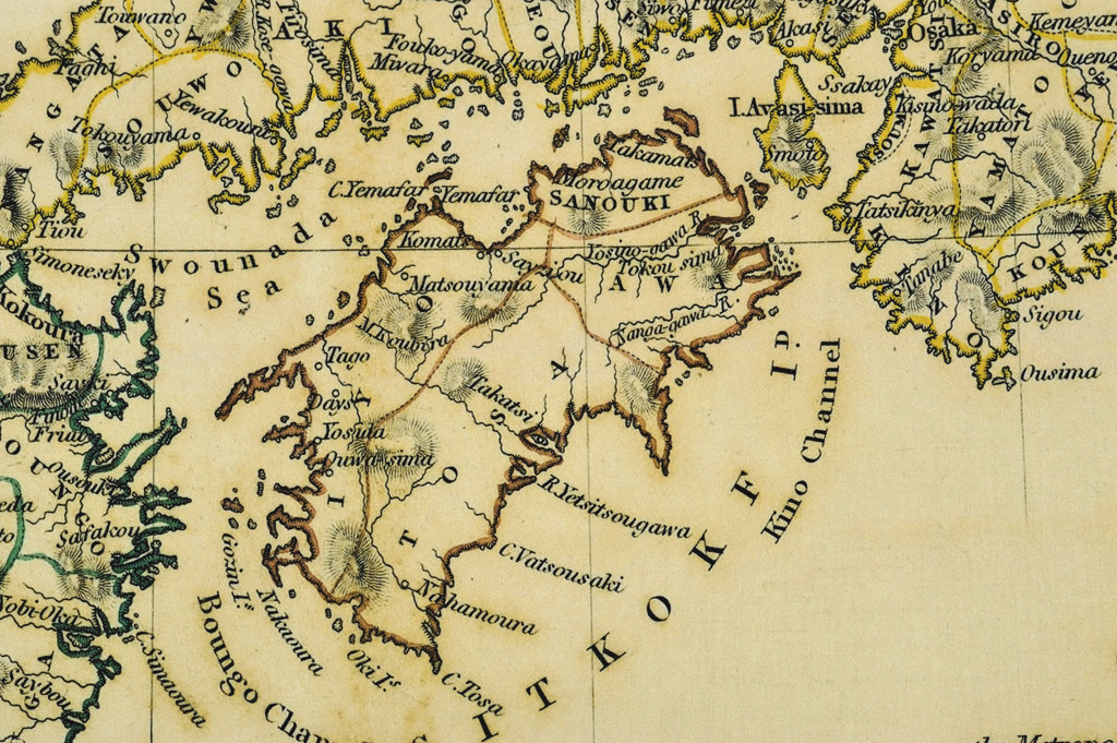 Stock Photo: 160-2640 antique map