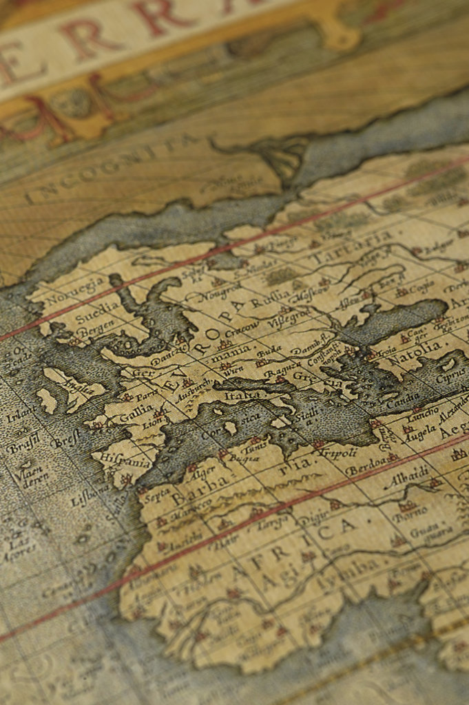 Stock Photo: 160-2643 antique map