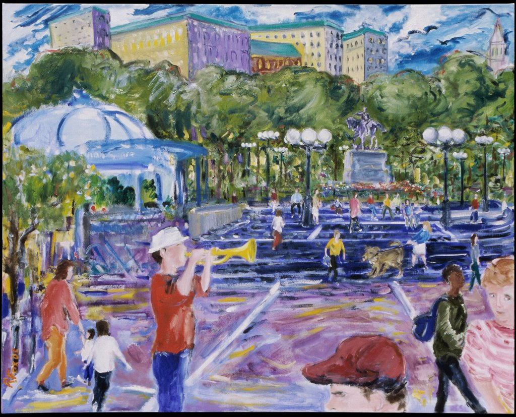 Stock Photo: 1601-105 Spring, Union Square, 2005, Richard H. Fox (b.1960/American), Oil on Canvas
