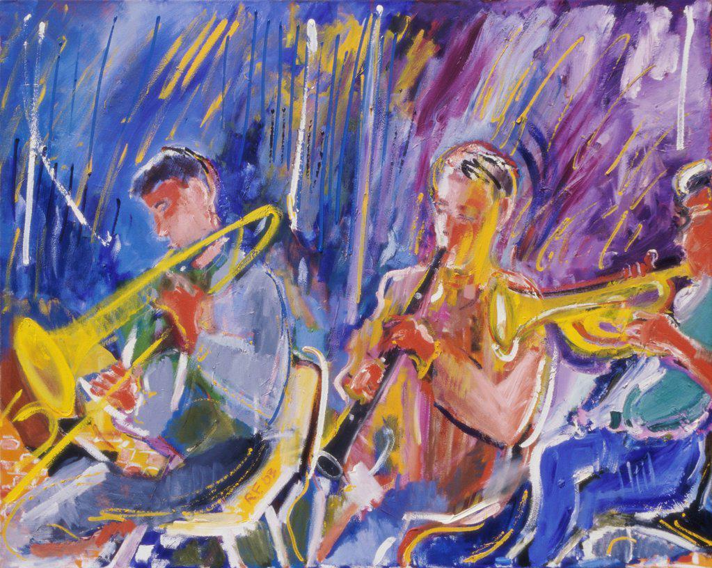 Harmony, 2003, Richard H. Fox (b.1960/American), Oil on Canvas : Stock Photo