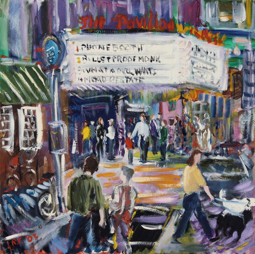 Stock Photo: 1601-152 Neighbors, 2003, Richard H. Fox (b.1960/American), Oil on Canvas