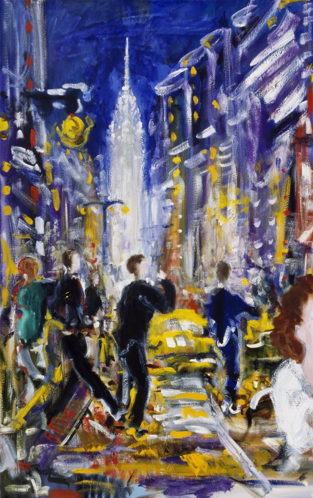Stock Photo: 1601-246 Metropolis 2005 Richard H. Fox (b.1960/American) Oil on Canvas