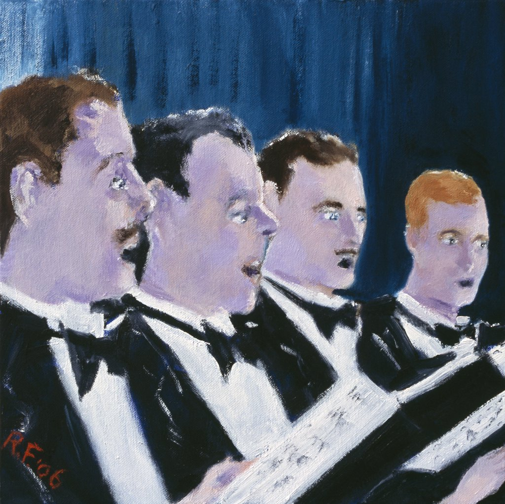 Stock Photo: 1601-256 The Chorus 2006 Richard H. Fox (b.1960 American) Oil on canvas