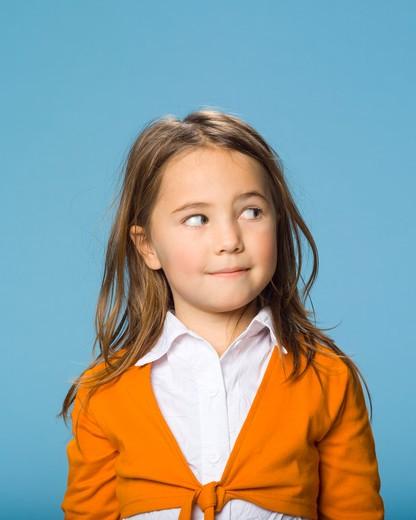 Stock Photo: 1606-101337 Portrait of little girl looking away