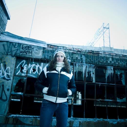 Stock Photo: 1606-101772 Teenage girl outdoors, winter