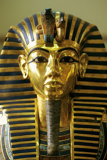Egypt, Cairo, Tutankhamun golden mask : Stock Photo