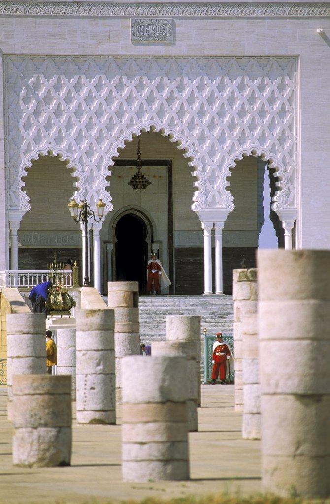 Morocco, Rabat, Mohammed V mausoleum : Stock Photo