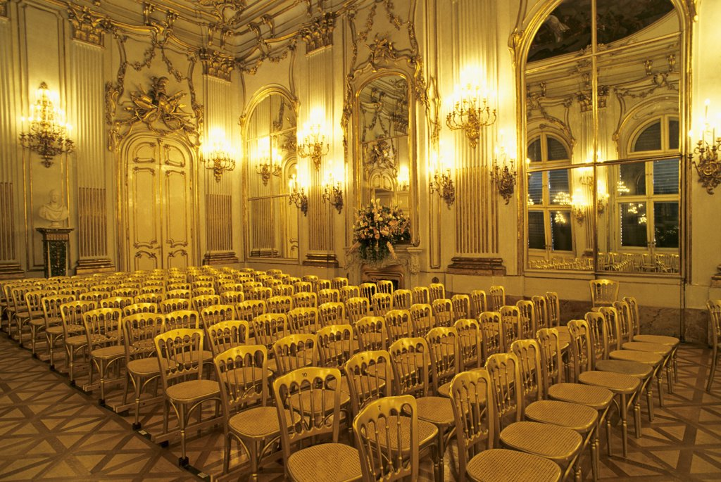 Austria, Vienna, castle of Schonbrunn, great gallery : Stock Photo