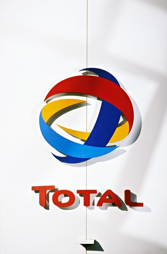 Total logo : Stock Photo