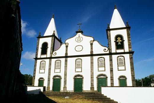 Portugal, Azores, north Pico , Sanderias, XIX century church : Stock Photo