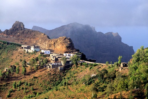 Africa, West Africa, Cape Verde (Cabo Verde), Santiago island, Serra Malagueta natural parc : Stock Photo
