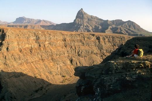 Stock Photo: 1606-102838 Africa, West Africa, Cape Verde (Cabo Verde), Santiago island, canyon de Ribeira da Barca