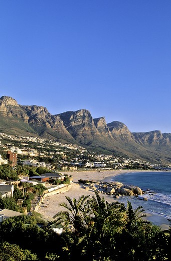 South Africa, Cape town, Camps Bay beach : Stock Photo