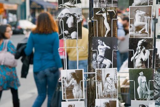 Stock Photo: 1606-103681 France, Paris, erotic postcards