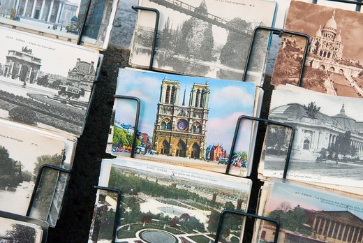 France, Paris, old postcards : Stock Photo