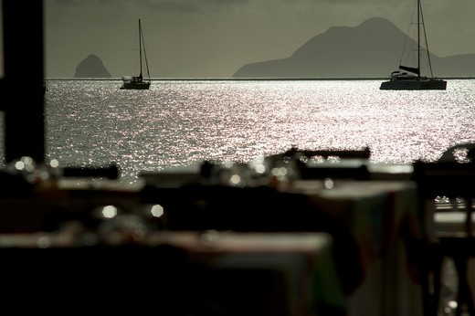 French West Indies, Martinique, Sainte Anne, htel La Dunette : Stock Photo