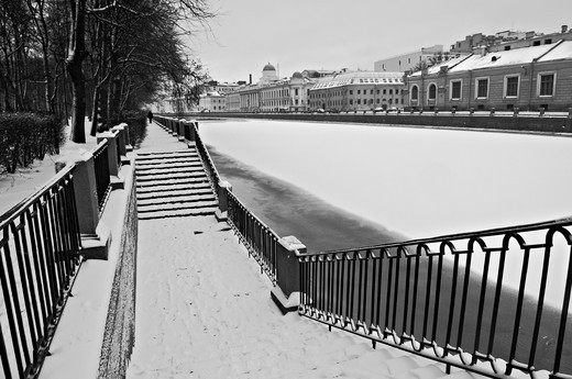 Russia, Saint Petersburg, Fontanka river : Stock Photo