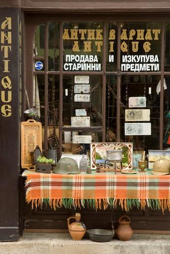 Bulgaria, Tryavna, antique dealer : Stock Photo