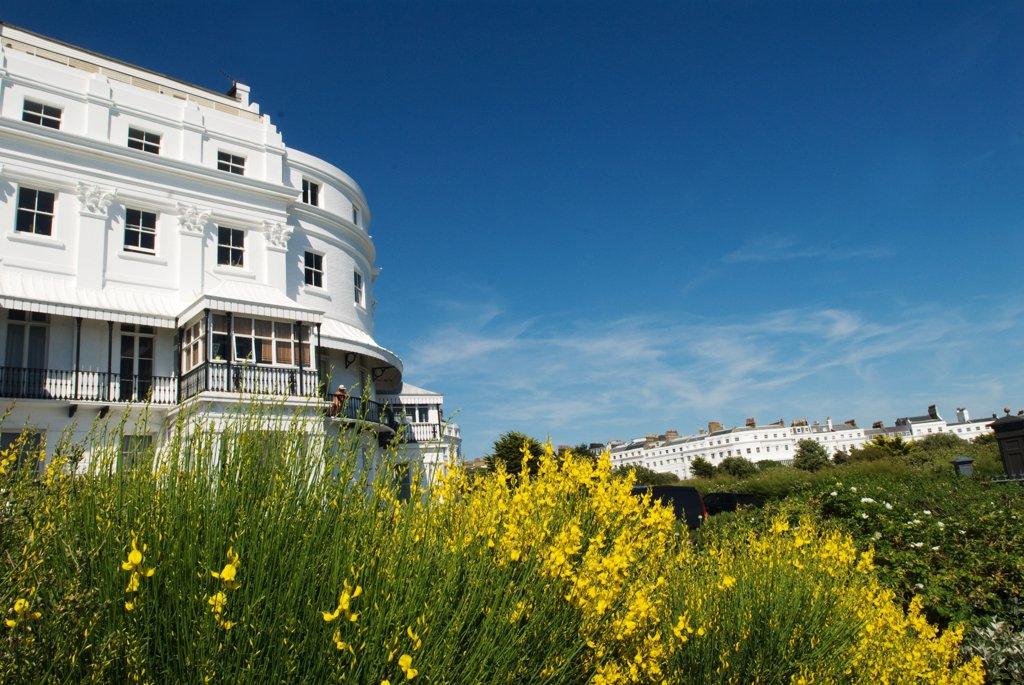 Stock Photo: 1606-106555 England, Sussex, Brighton, Kemptown, Lewes Crescent