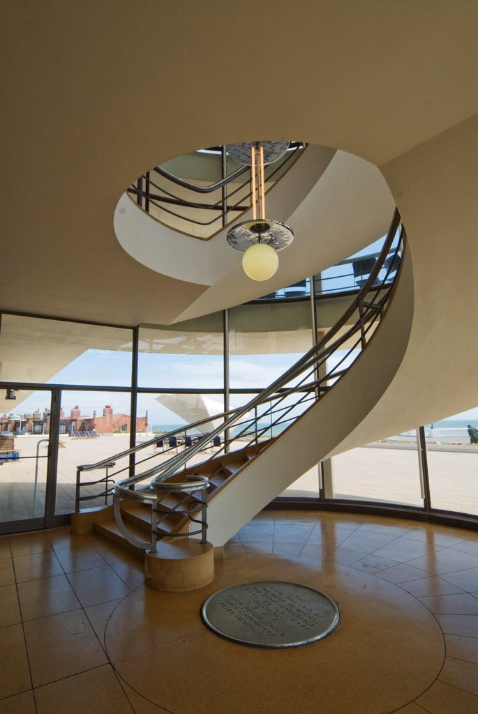 England, Sussex, Bexhill on Sea, De la Warr Pavilion, built in 1935 : Stock Photo