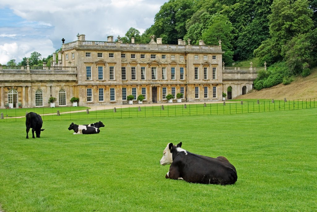 England, Gloucestershire, Dyrham Park, grand baroque house : Stock Photo