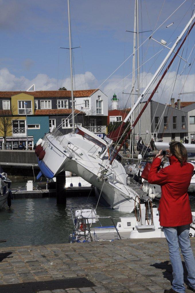 France, Charente-Maritime, La Rochelle, Xynthia storm damages : Stock Photo
