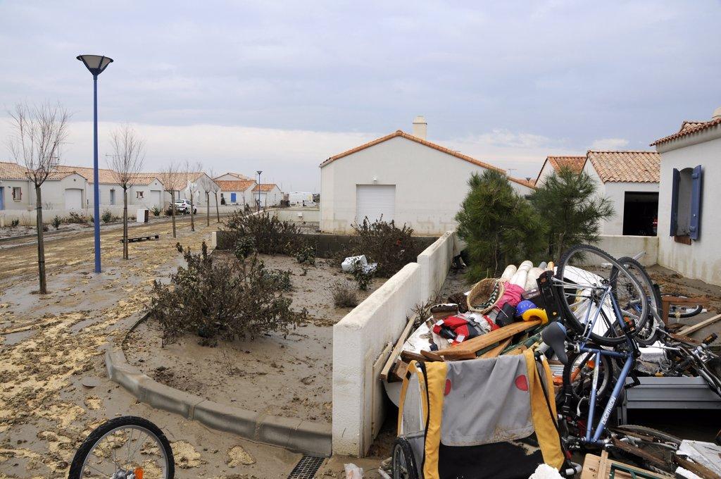 France, Vende, La Faute sur Mer, Xynthia storm damages : Stock Photo