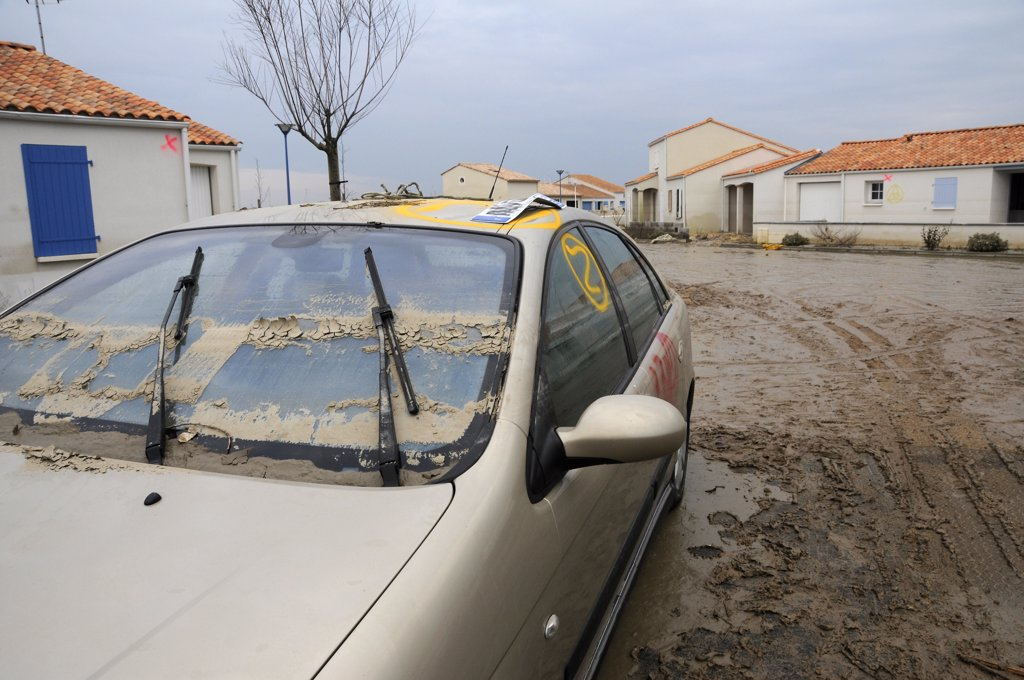 France, Vende, La Faute sur Mer, Xynthia storm damages : Stock Photo
