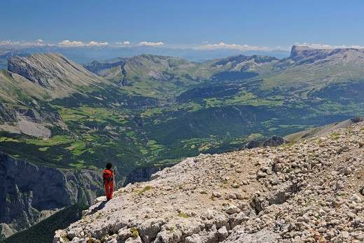 France, Alps, Devoluy mountains, trekking : Stock Photo