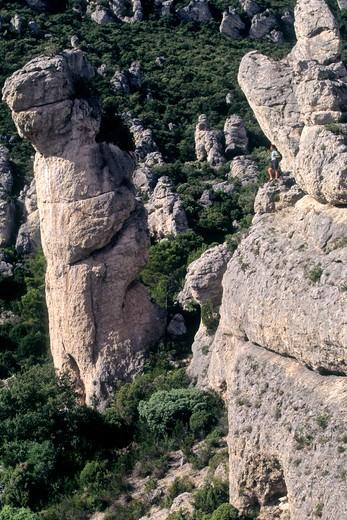Stock Photo: 1606-108251 France, Languedoc-Roussillon, Herault , Moureze (Clermont-l'Herault area) Cirque de Moureze