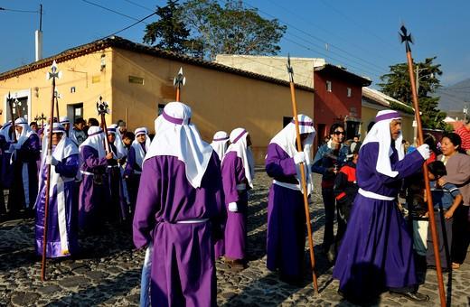 Guatemala, Antigua, Holy Week procession : Stock Photo