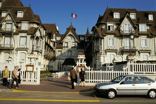 Stock Photo: 1606-10892 France, Normandy, Calvados, Deauville, hôtel Normandy