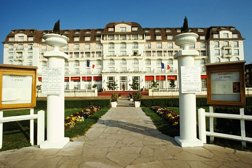 Stock Photo: 1606-10893 France, Normandy, Calvados, Deauville, Royal hotel
